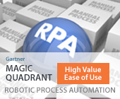 Ranked in Gartner Magic Quadrant for RPA Banner