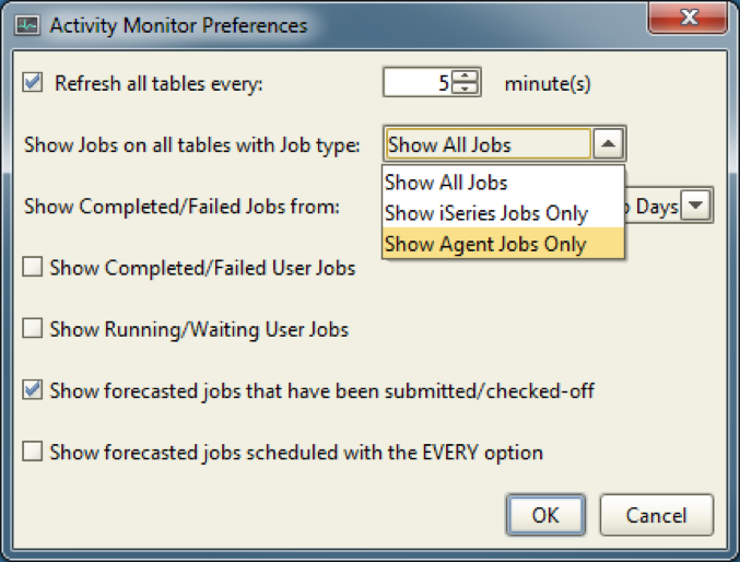 Schedule Activity Monitor (SAM) allows you to see jobs running on your Windows, UNIX, and Linux servers, as well as as/400 jobs.
