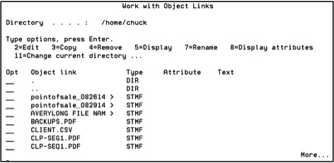 IFS directory with date and time appended