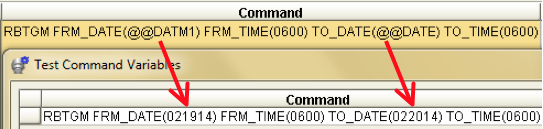 RBTGM command in a Robot/SCHEDULE job