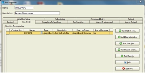 Add agent event reactivity to your Robot job