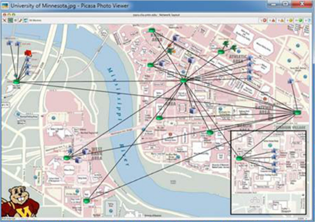Figure 3: Network maps should be tailored to display the information that a particular user needs.