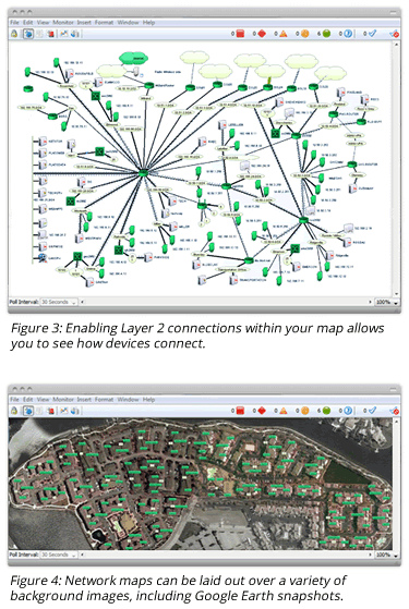 Enable layer 2 connections within your map and lay out maps over a variety of background images.