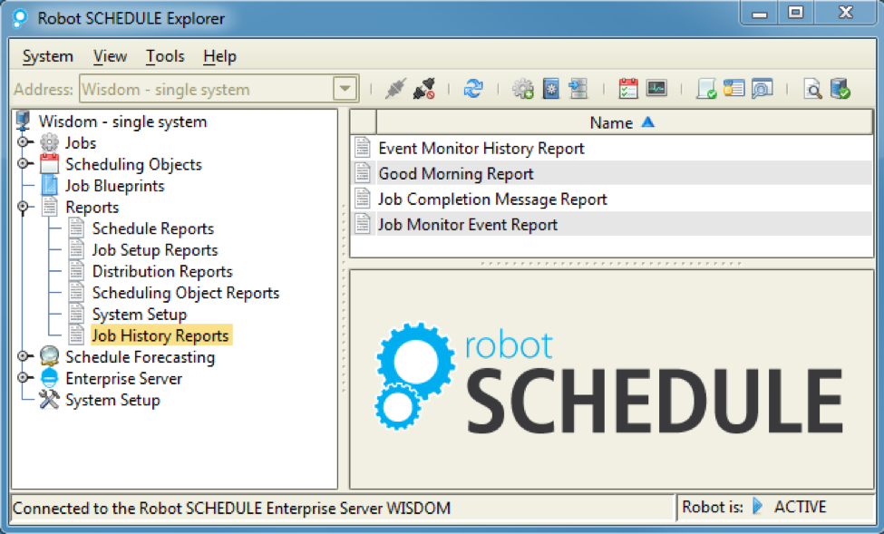 Robot SCHEDULE makes audit reporting easy
