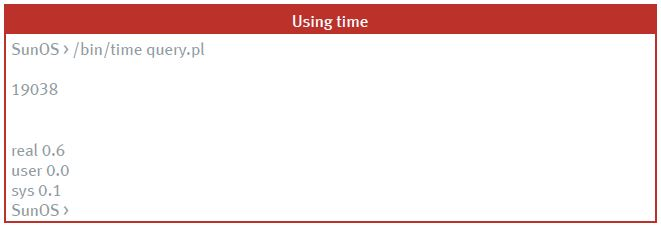 query.pl using time command