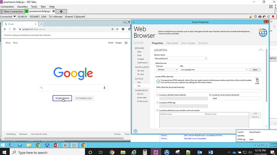 Chrome Web Browser Automation Tutorial Steps