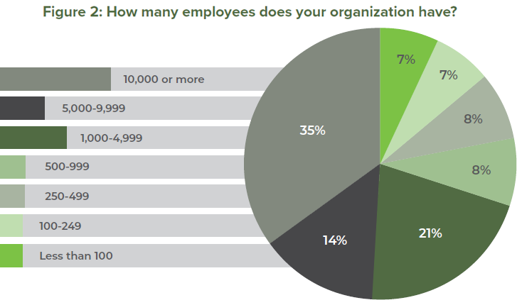 Figure 2: How many employees does your organization have?