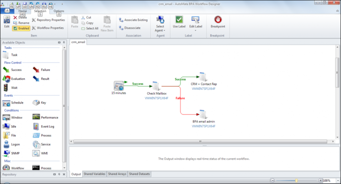 Task Elements in Automate BPA - Email and CRM Automation