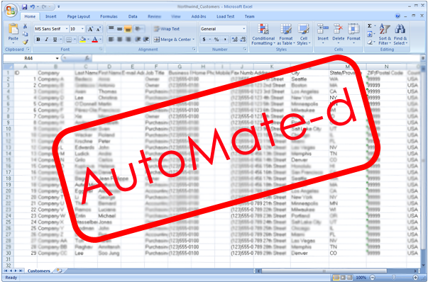 Excel Spreadsheet Automated