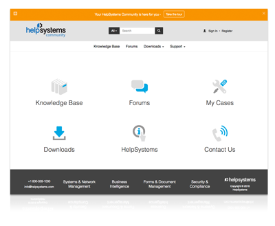 HelpSystems Community Portal
