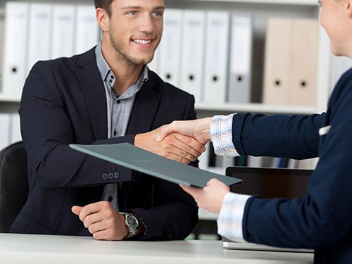 Document management helps these businessmen save time and work more efficiently