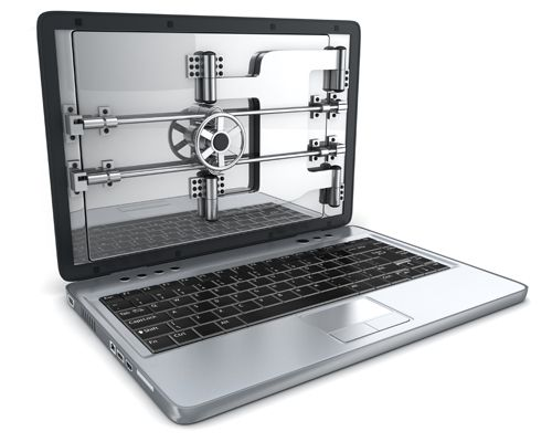 Laptop protected from attacks and breaches thanks to a secure, vault door over the screen