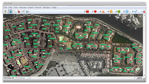 Overlay your IT infrastructure within Google Earth to visualize a geographically distributed network.