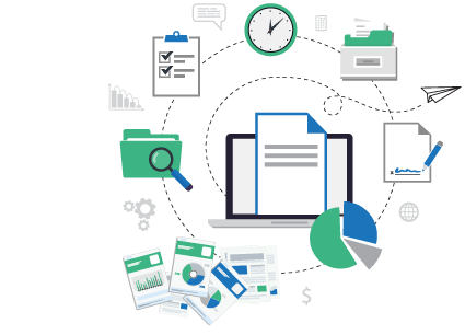 Manage documents, forms, data, signatures, and files with document management solutions