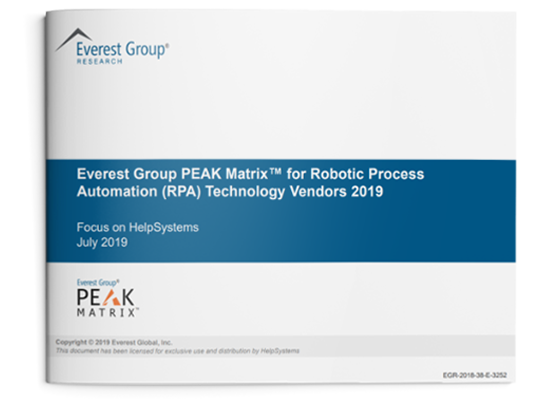 2019 Everest Group RPA Products PEAK Matrix | HelpSystems