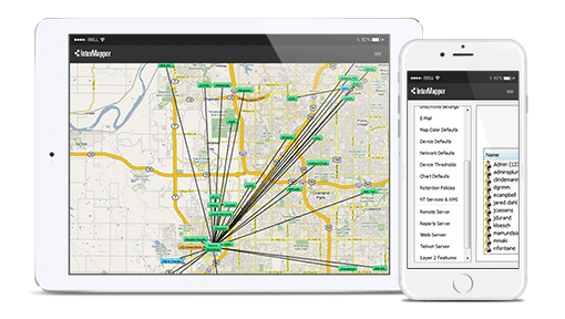 Intermapper mapping on mobile devices