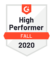 G2 High Performer - Fall 2020 Badge