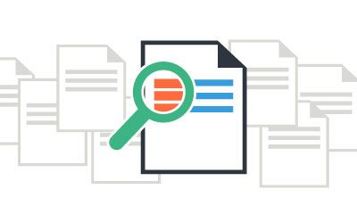 Find documents fast with Webdocs' index and search functionality
