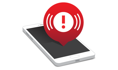 Receive notification on your mobile device