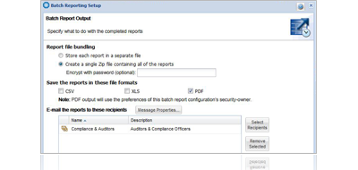 compliance monitoring software report scheduling and distribution
