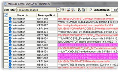 Message monitoring software for ibm I – robot console