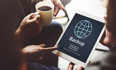 Scheduled backup management software