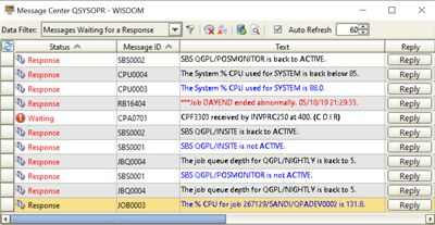 Screen Shot: Automate message management