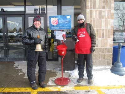 people ringing bells for the Salvation Army