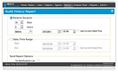 generate audit history reports for compliance