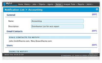 monitor job schedule and get notified of problem