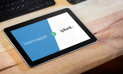 Combined functionalities of Intermapper and Splunk providing network monitoring and log analysis