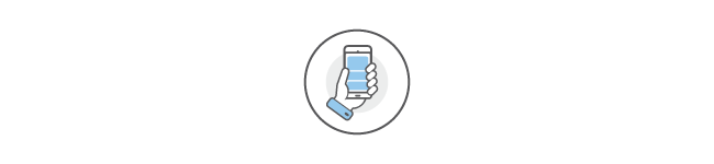 hand holding phone icon