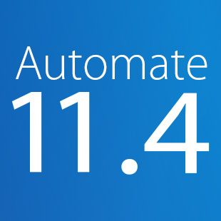 RPA software from Automate, version 11.4