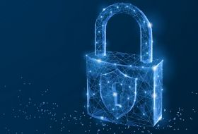 blue padlock graphic