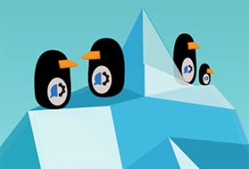 Sophos blog penguins with HelpSystems logo