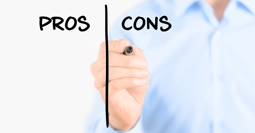 pros and cons advantages and disadvantages in business environment Pros and cons of business growth it is essential  your business may become a  market leader if you take advantage of strong opportunities.