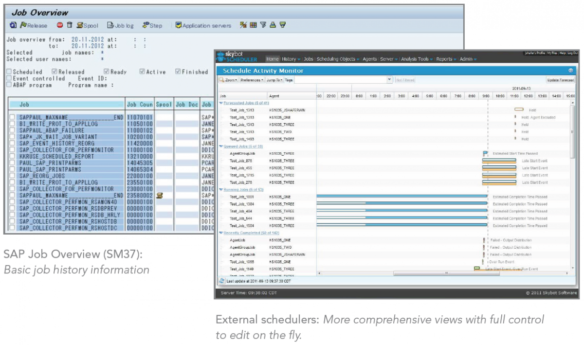 best practices for sap task scheduling beyond the ccms helpsystems sap job overview sm37 basic job history information and external schedulers